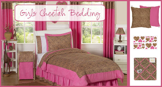 Girls Cheetah Print Bedding Set