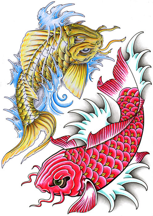 All About Tattoos And Ink Koi Fish Tattoo Art