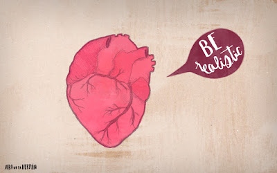 Be realistic heart illustration