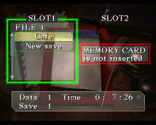 Silent Hill save screen