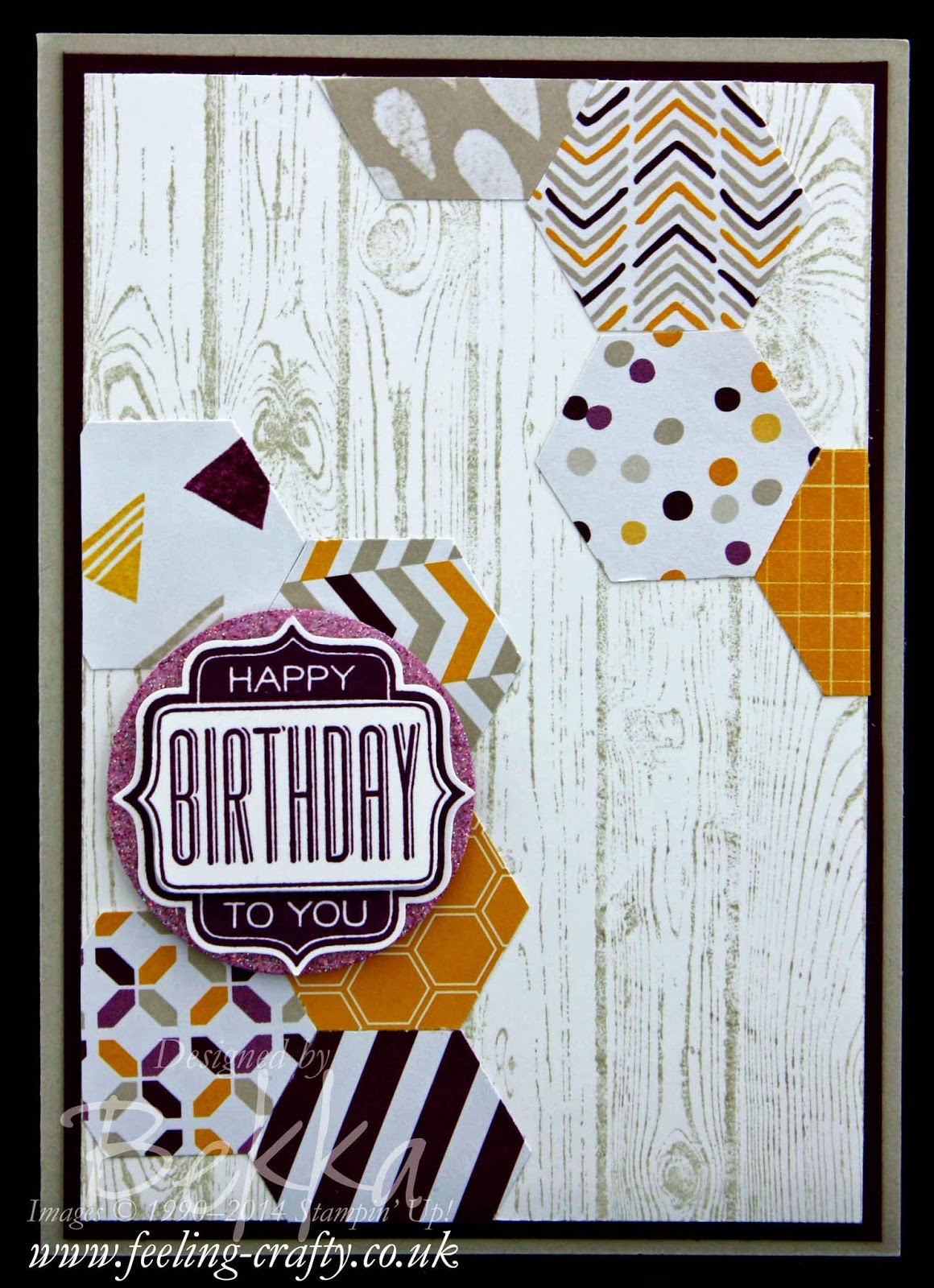 Moonlight Paper Stack Birthday Card with Hexagons - check out this blog for lots of great ideas