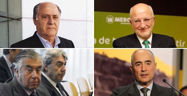 Cuatro familias españolas atesoran una fortuna superior a los 80.000 millones