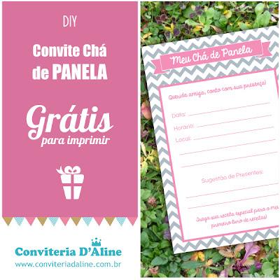 Convite Chá de Panela Grátis