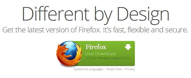 Download Firefox versi 17 gak pake ribet