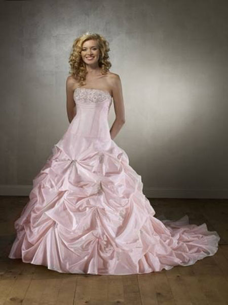 New york fashion christmas best pink wedding dresses 2012