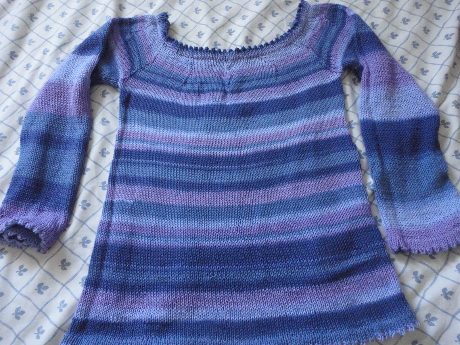 Mis labores jersey con agujas circulares - Como hacer un jersey de punto ...