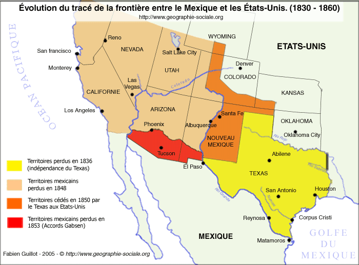 Ville Sur Le Rio Grande A La Frontiere Du Mexique