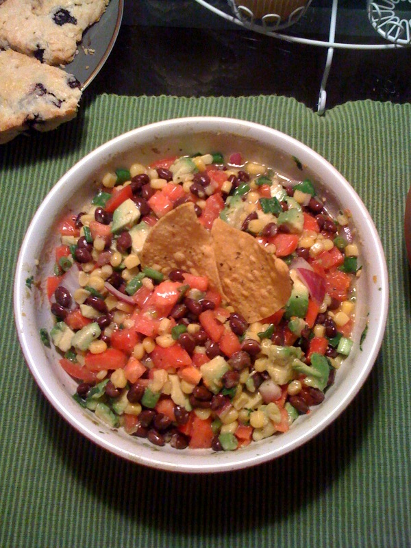 Homemade Veggie Salsa (recipe below)
