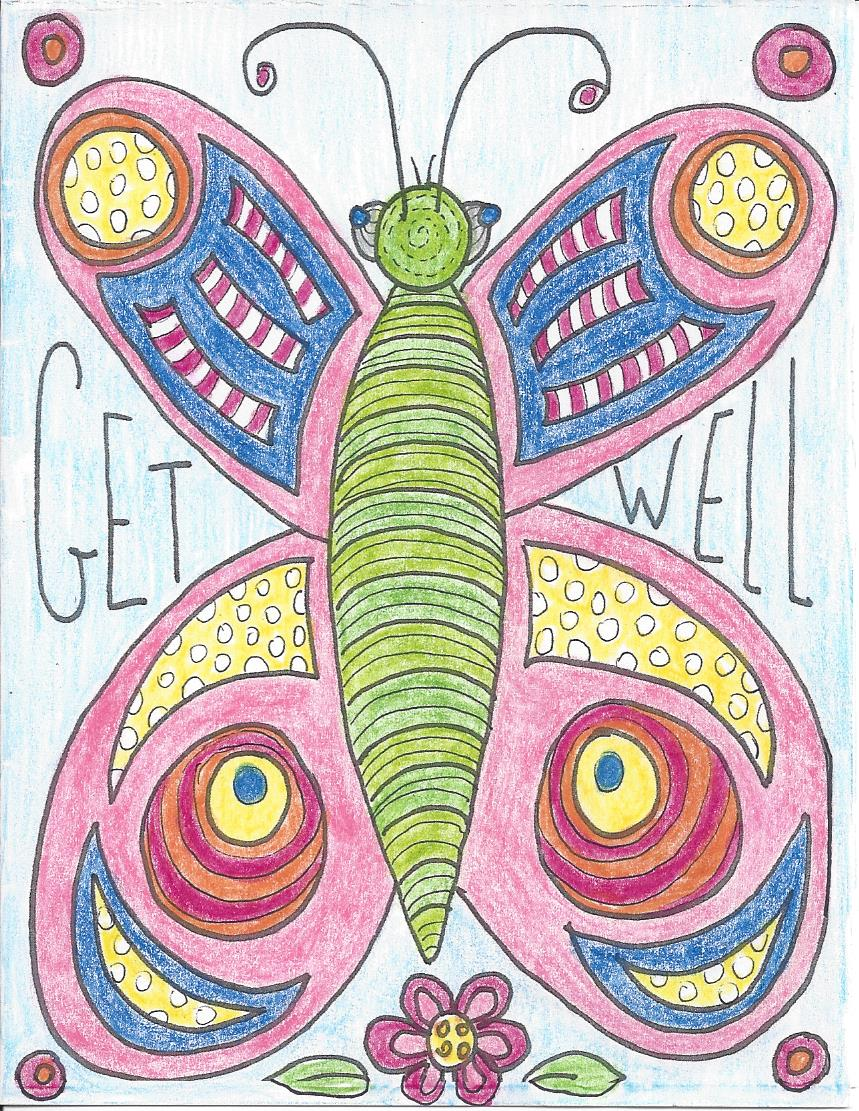 Color your card get well - Free Get Well Card