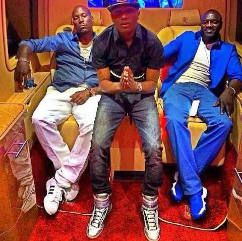 Wiz Kid hangs out with LA Big boys Akon & Tyrese