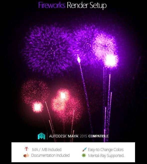 Free Fireworks Render Setup