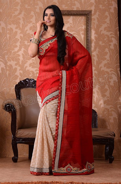 Best Natasha Regal Couture Party Wear Sarees 2013