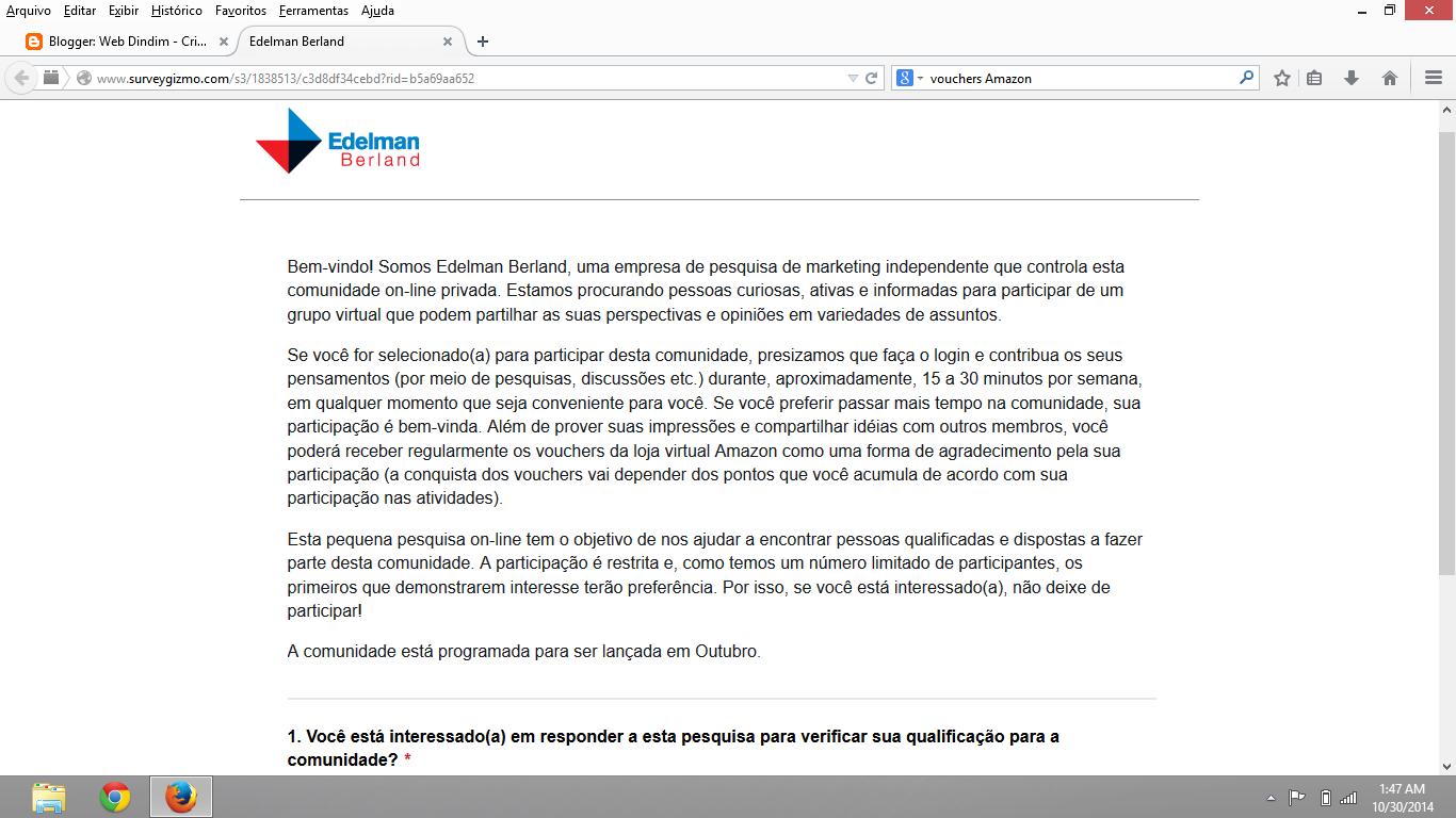 Edelman Berland Novo Site de Pesquisa Paga!