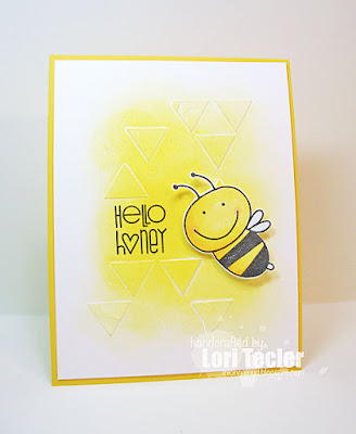 Hello Honey card-designed by Lori Tecler/Inking Aloud-stamps from Paper Smooches