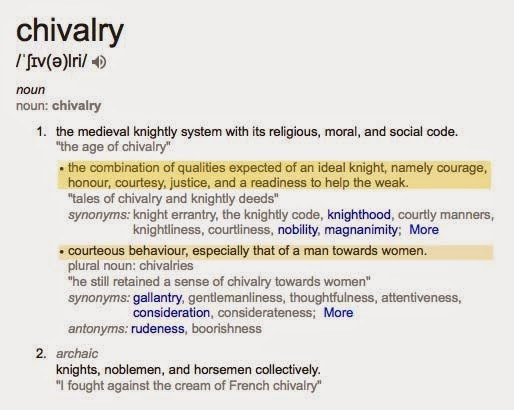define chivalry in dating How to use chivalry in a sentence example sentences with the word chivalry chivalry example sentences.