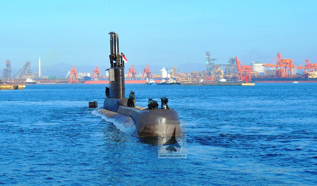 Sea TrialKRI Nanggala di Korea Selatan (foto: arc.web.id)