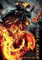 Cartel de Ghost Rider: Espíritu de venganza, con Nicolas Cage