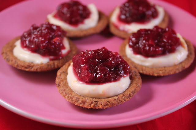 Cherry-orange cream cheese tartlets