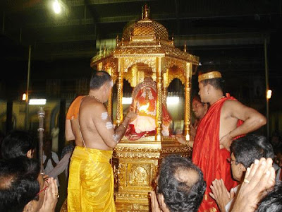 Goddess Mookambika Devi in Golden Chariot in the Temple picture