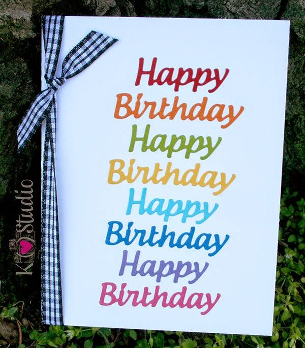 birthday card die cut cardstock rainbow