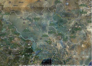 Google Lat Long South Sudan Is Now Official On Google Maps - World satellite google map
