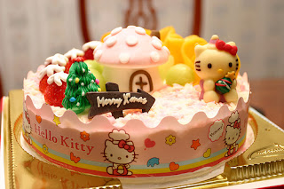 Hello Kitty Christmas cake treat