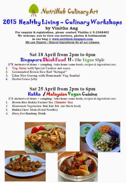 Hakka / Malaysian Vegan Culinary class by Vinitha @ NutriHub