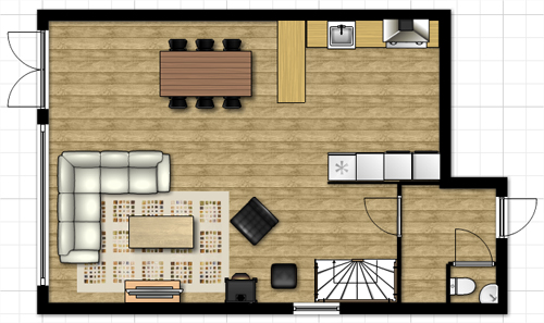 interiur huis keuken: Plattegronden