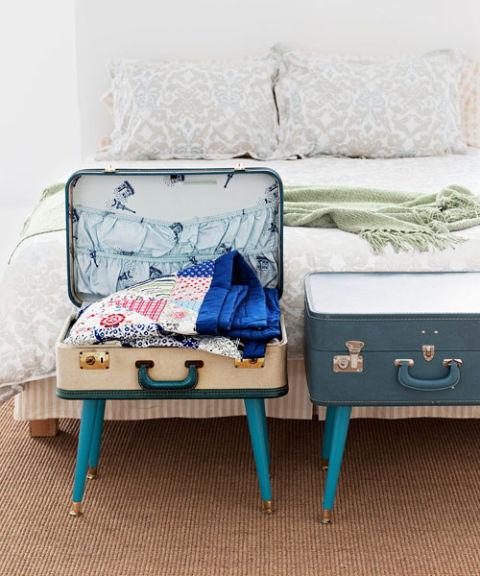 Koffer wird zum Beistelltisch - der leichte Selbermachen-Tipp
