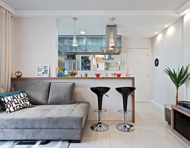 decoracao simples para ambientes pequenos : decoracao simples para ambientes pequenos:RedLar: Cozinha americana é prática, funcional e integra ambientes