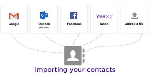 Agregar contactos desde otros servicios