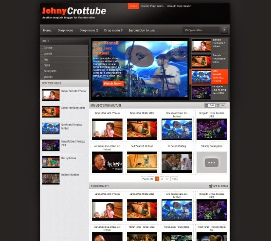 Johny Crottube Blogger Template
