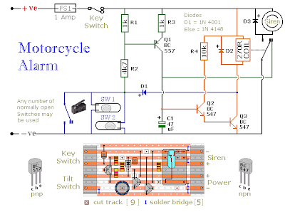 Motorcycle Alarm Circuit Diagram