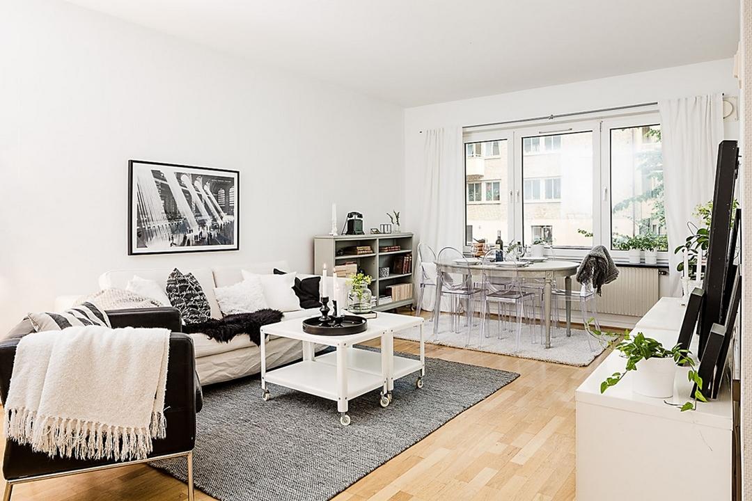 D couvrir l 39 endroit du d cor cocooning en noir et blanc for Appartement deco cocooning