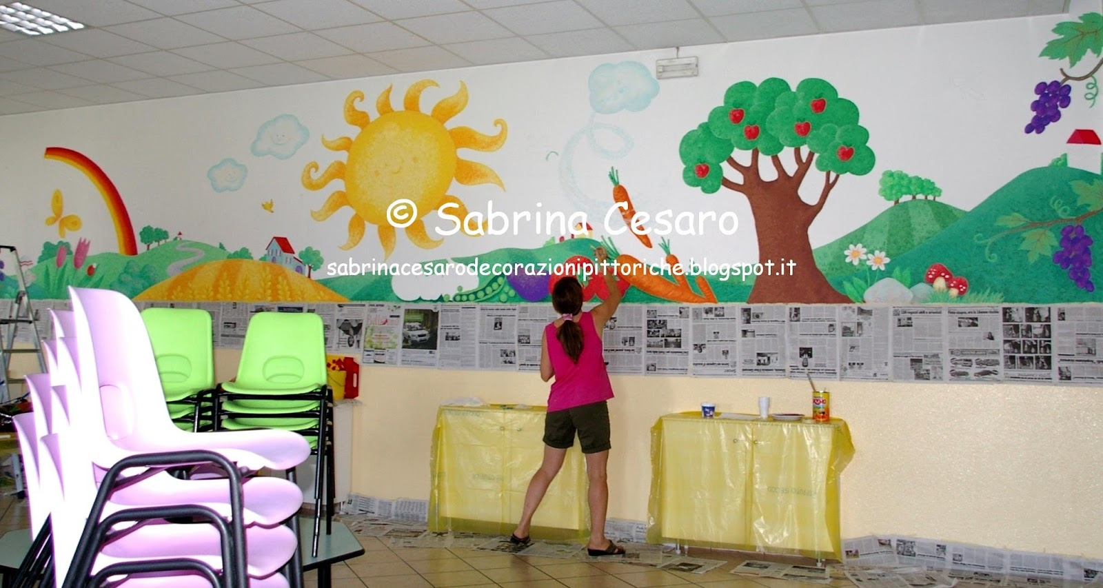 Adesivi murali per camere ragazze - Murales cameretta bimbi ...