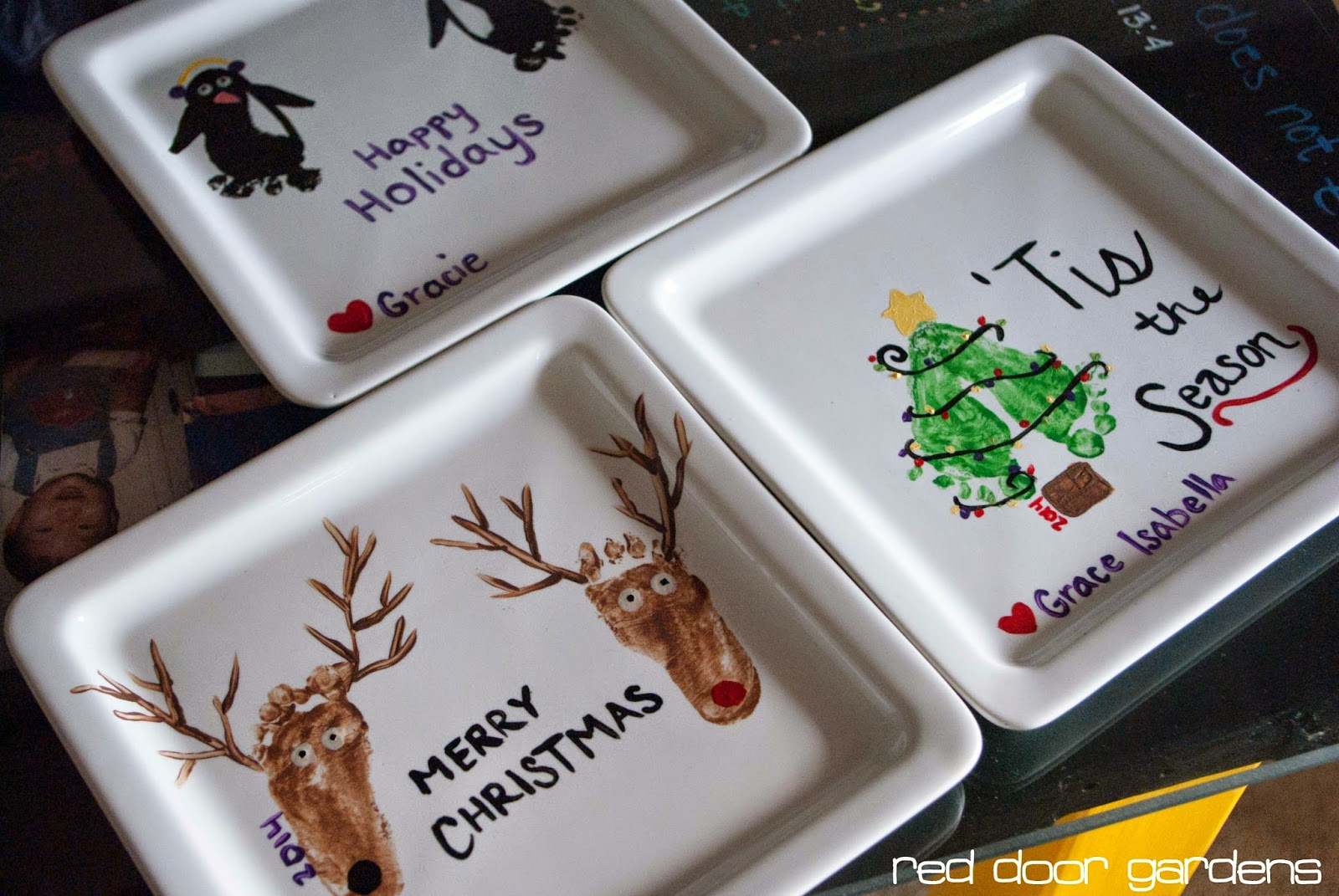 Red Door Gardens: #Naptime Pursuits: Footprint Art Christmas Gifts