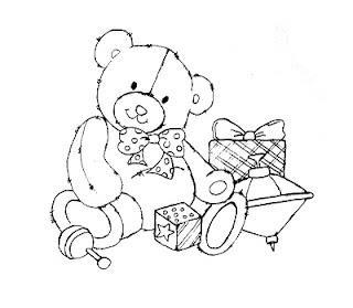 ursinho com brinquedos