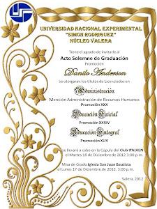 Invitación a Grado Diciembre 2012