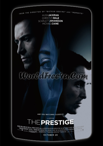 Poster Of The Prestige (2006) Full Movie Hindi Dubbed Free Download Watch Online At worldfree4u.com
