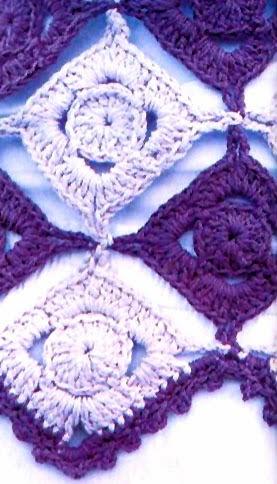 Remera en Rombos Tejida en Crochet