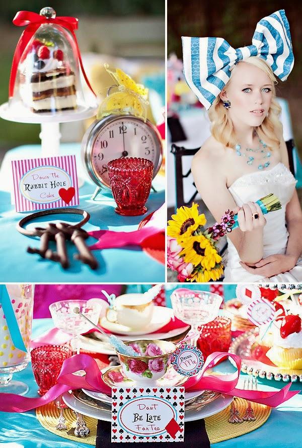 Memorable wedding outdoor weddings alice in wonderland wedding theme - Alice in wonderland decorations ...