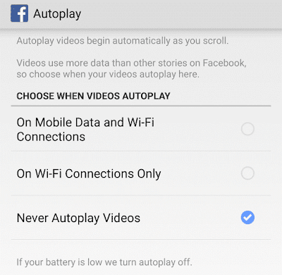 Autoplay Settings on App