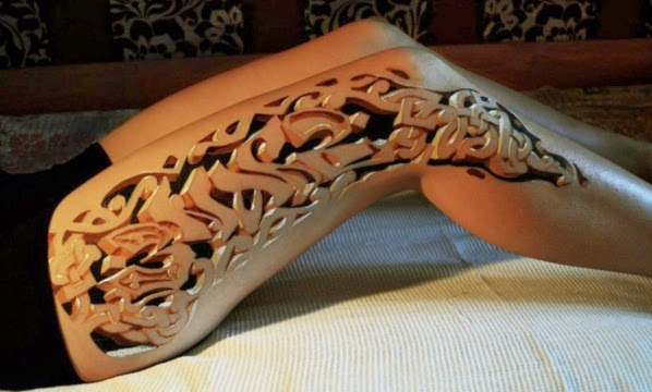 Viral Image Of Realistic 3D Tatoo
