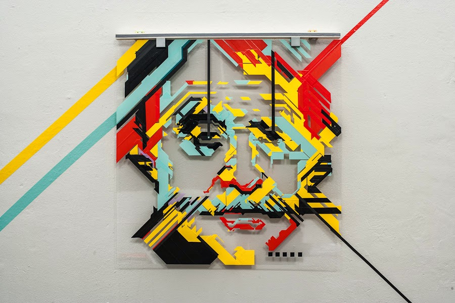 Simply Creative: Tape Collage by No Curves