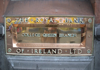 sign for Royal Bank of Ireland