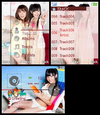 渡邊麻友@AKB48 SonyEricsson手機主題Style 2 for Elm/Hazel/Yari/W20﹝240x320﹞