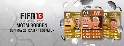FUT 13 Orange MOTM Arjen Robben 91 - FIFA 13 Ultimate Team