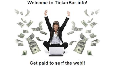Ganar dinero con la CashBar de TickerBar