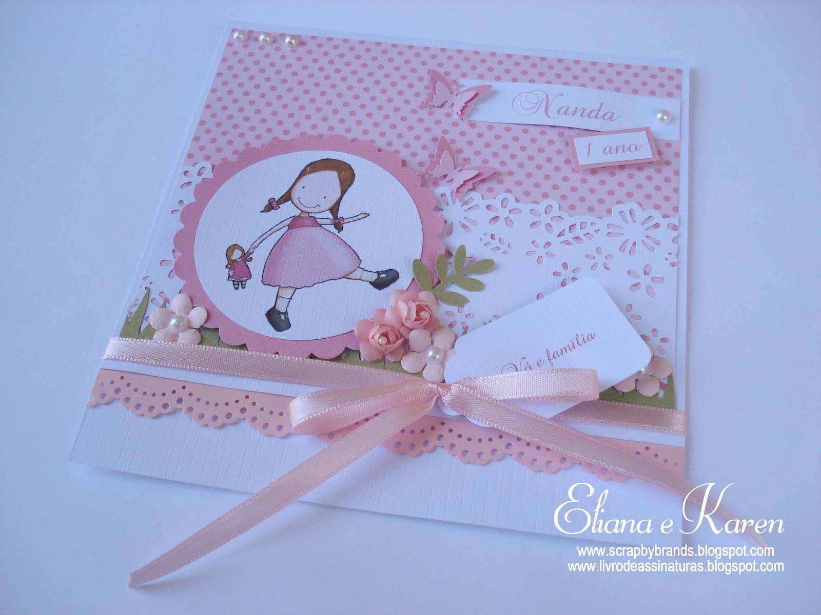 assinaturas por Eliana Brands: Convite aniversário: Jardim de Bonecas ...