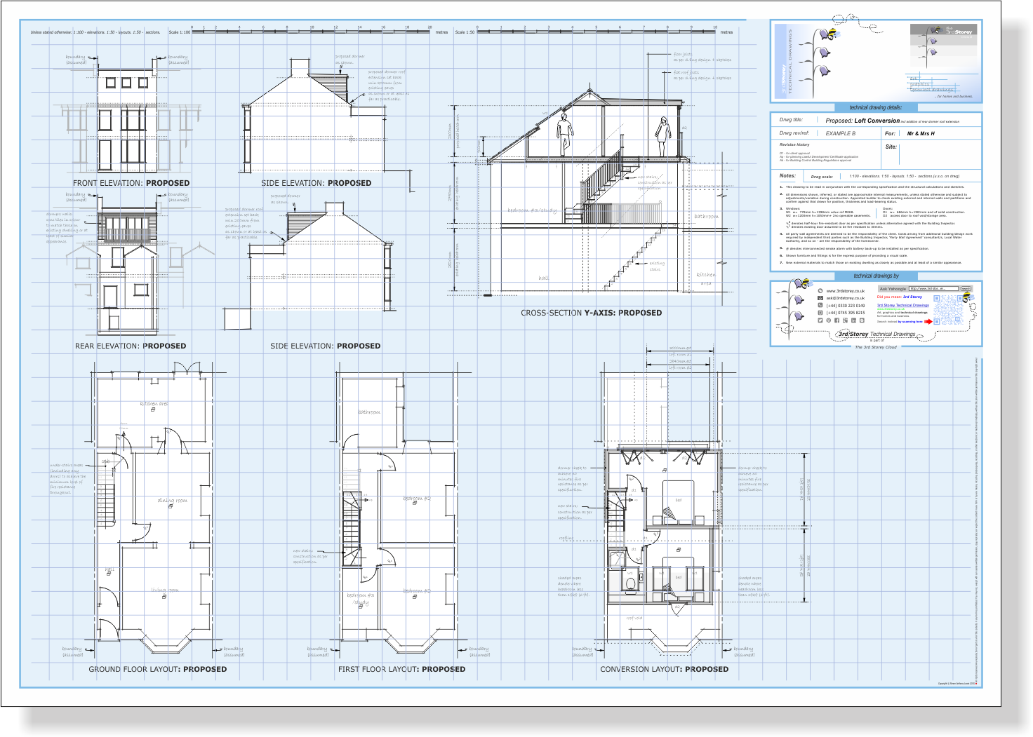 3rd storey technical drawings examples of technical for Loft drawings
